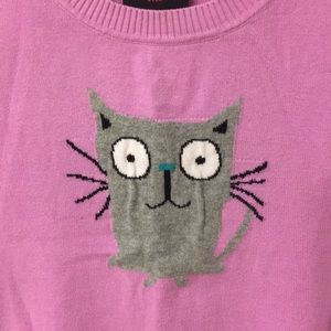 Shirts & Tops - Girls short sleeve kitten sweater